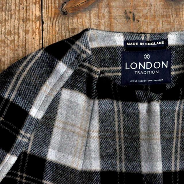 LONDON TRADITION no color coat - black × white check -