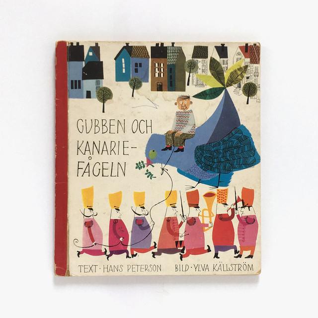 イルヴァ・シェルストルム:絵「GUBBEN OCH KANARIEFÅGELN(おじさんとカナリア)」《1960-01》