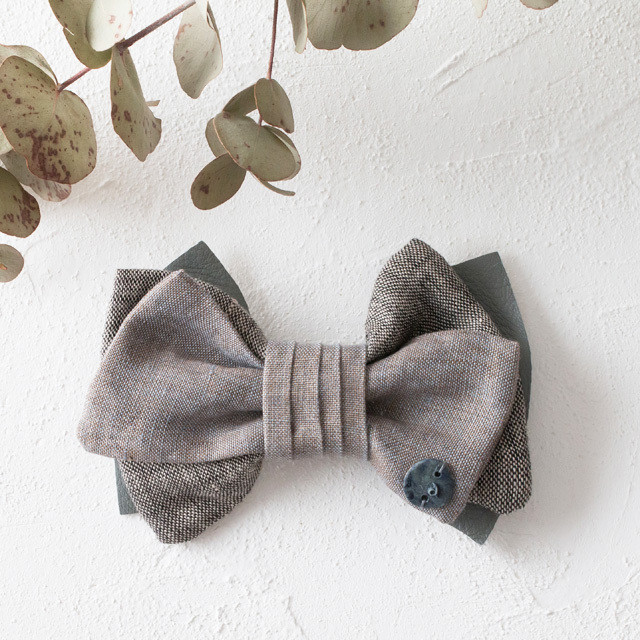 asaCorsage 〈Bow Tie〉Gray