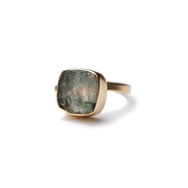 ROUGH STONE RING GOLD 024