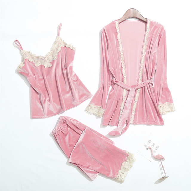 《Reve》Velour room wear set B392