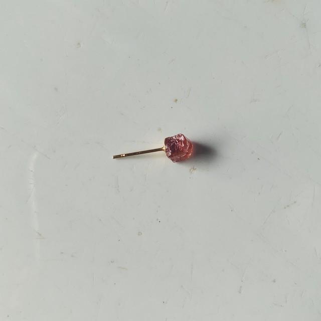 Tourmaline pink earring