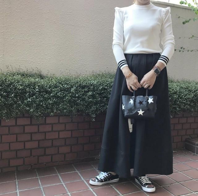 hue タックロングスカート