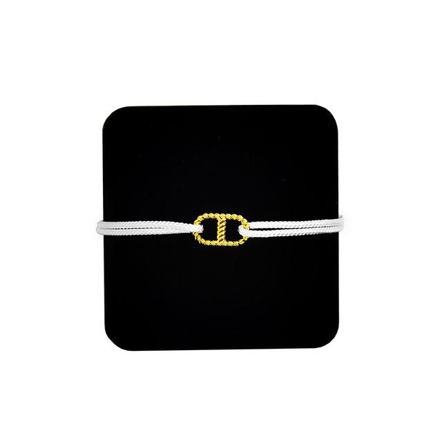 【無料ギフト包装/送料無料/限定】K18 Gold Anchor Chain Bracelet White【品番 20S2003】