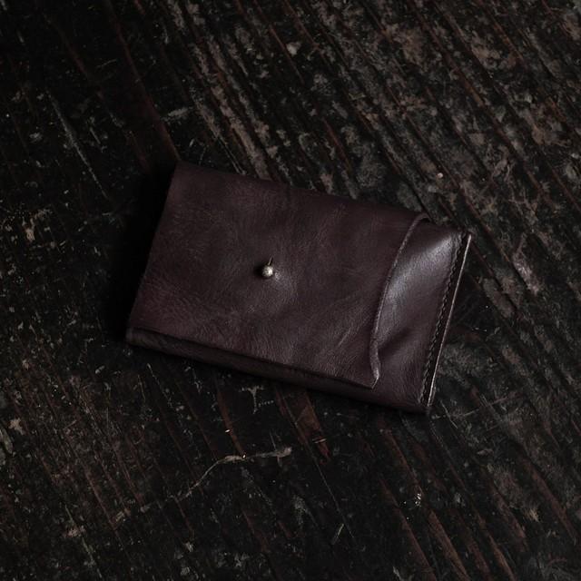 三折カードケース 赤 ギボシ sasaki yuichi