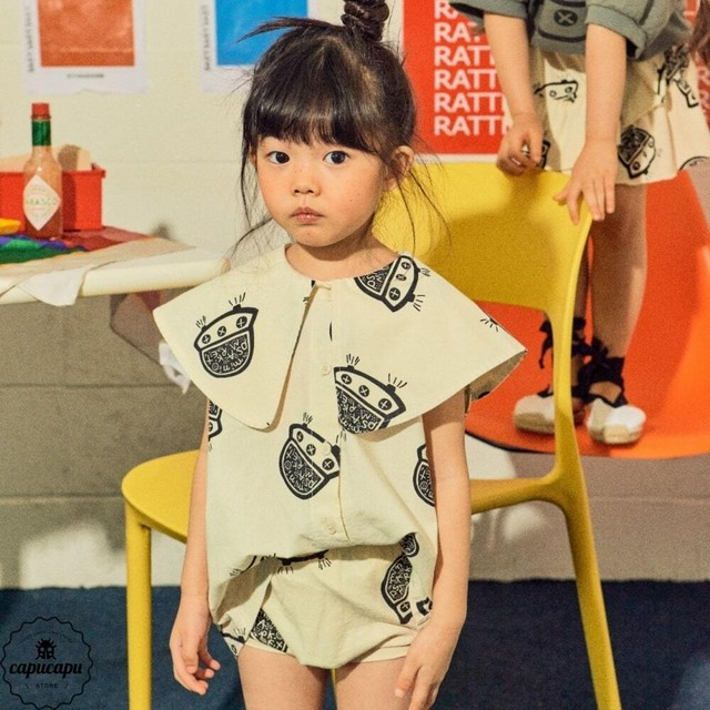 «sold out» mini ps market  UFO blouse ビックカラーブラウス