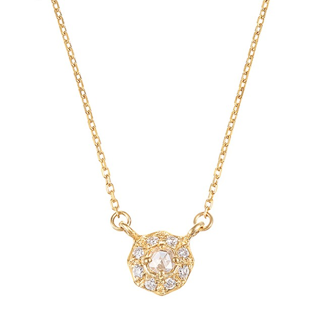 K10YGダイヤモンドネックレス 020209002259