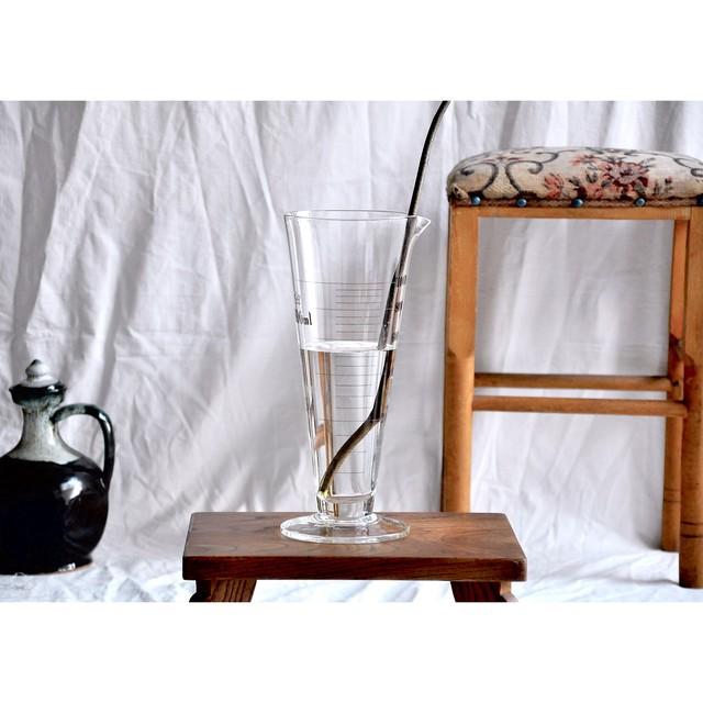 【 mètre glass - circle - 】メートルグラス / 液量計 / 円錐 / メスシリンダー / japan