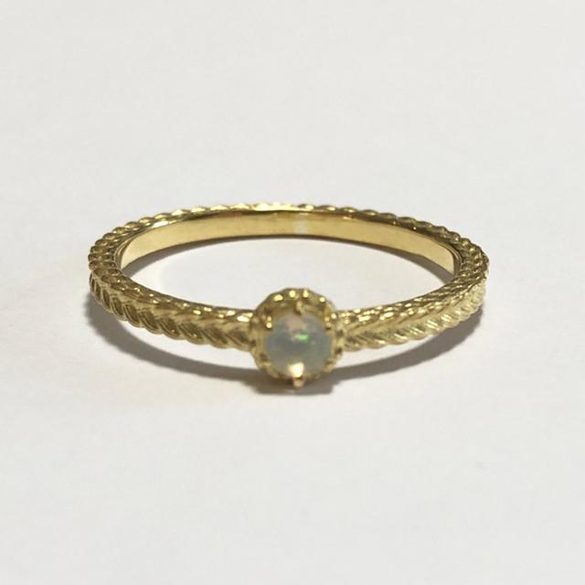 【受注生産】誕生石リング10月 オパール birthstone ring 10 opal