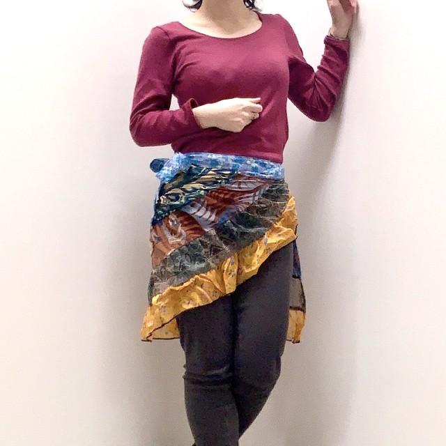 dsk-020 キッズ エスカルゴ 巻きスカート 90cm 〜 120cm