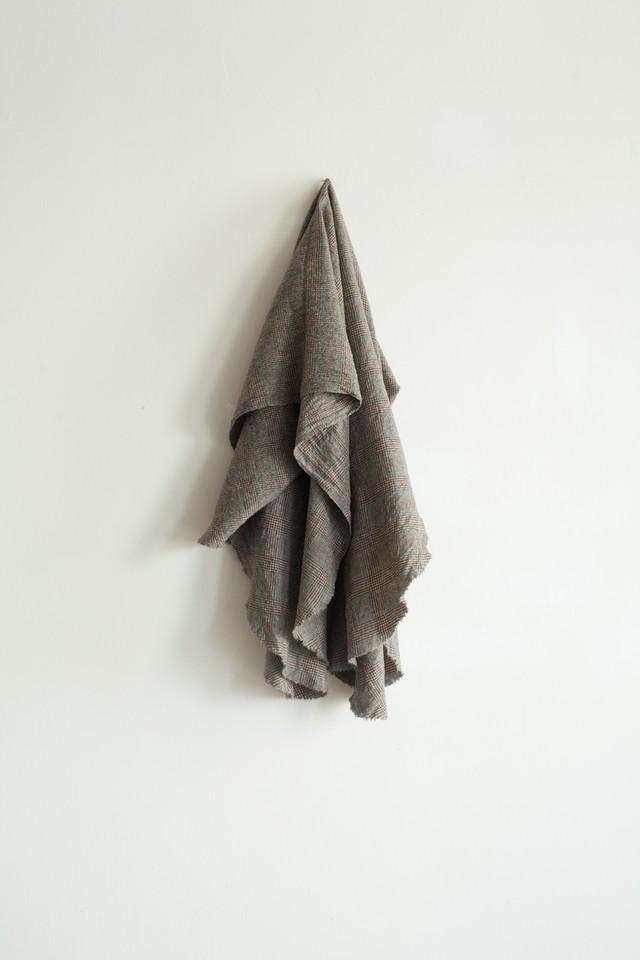 01513-2 glencheck cut stole / brown