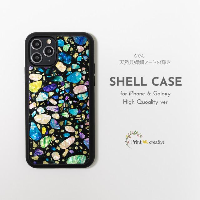 天然貝シェル★ジュエル(iPhone/Galaxyハイクオリティケース)|螺鈿アート|iPhone12 iPhone11pro iPhoneSE 第二世代 GalaxyS20