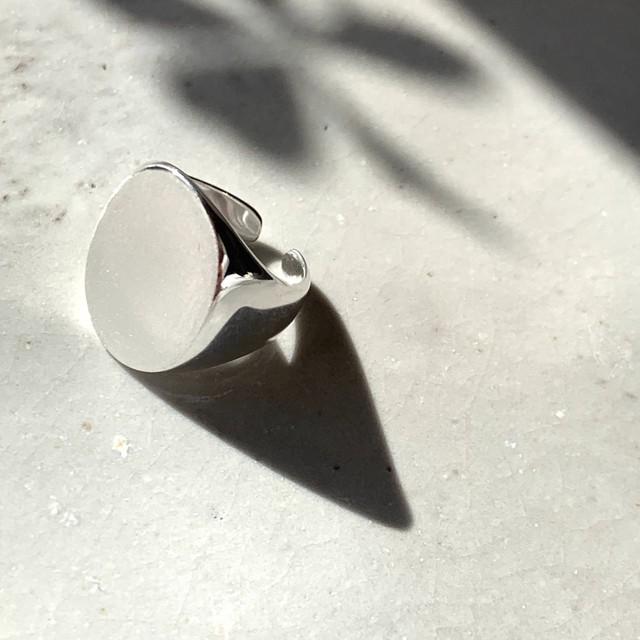 Oval cut Ring_Silver925|シグネチャーシルバーリング|#sp105|【STELLAPARK】