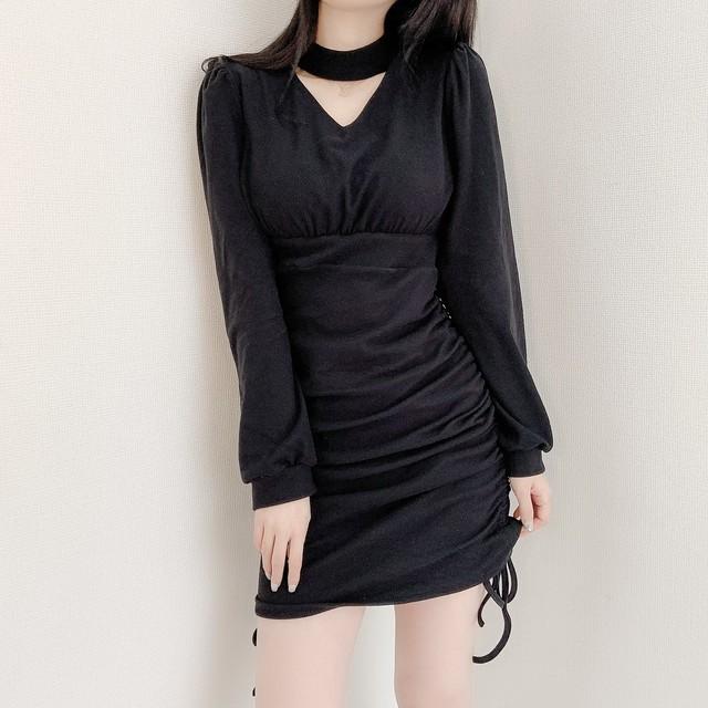 mini shirring knit OP