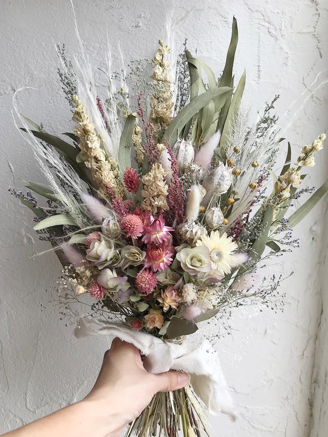 おまかせドライフラワー オーダースワッグ 花束 ブーケ Lサイズ