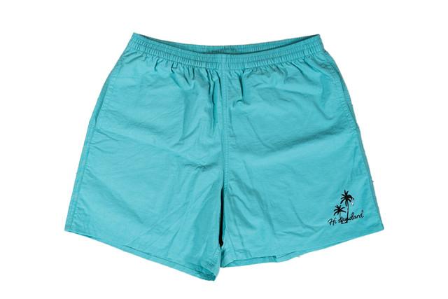 5/8[土]発売【palm tree nylon shorts】/ ocean green
