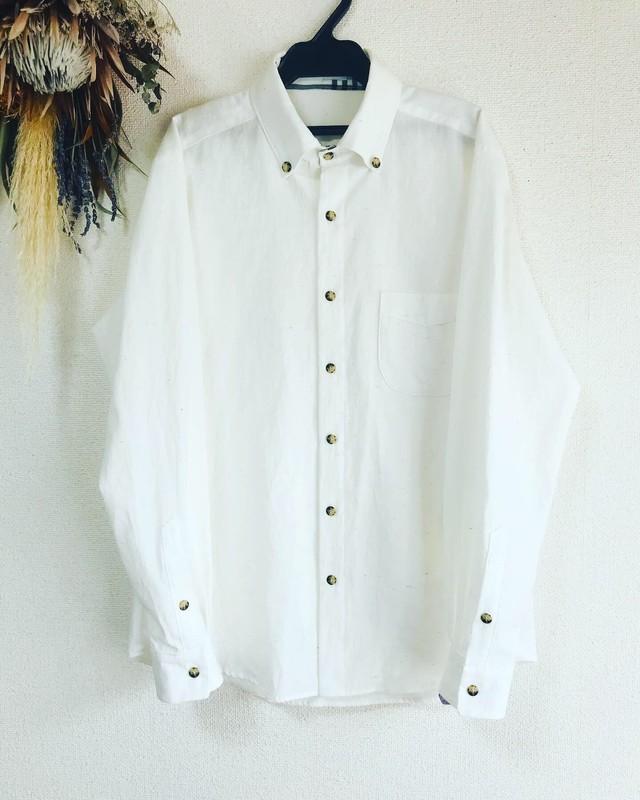 men's ネップミックスダンガリー スタンダードシャツ