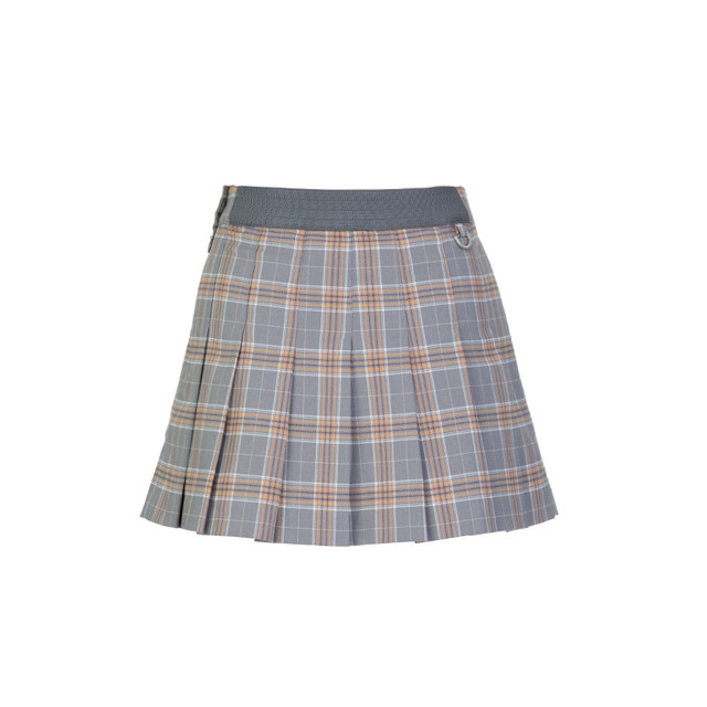 【試着サービス】Girlish Check Skirt (Gray) Sサイズ