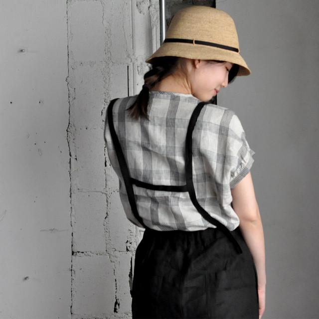 AN Linen - monori patnts noir -