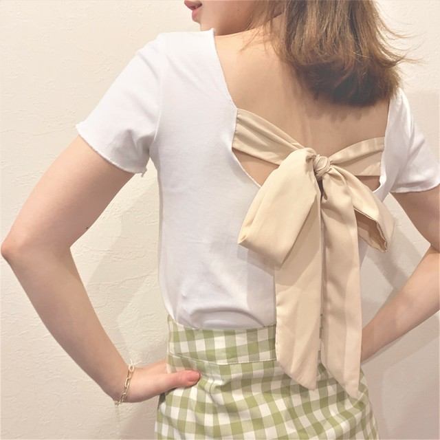 back ribbon knit catsew (S19-01094K)