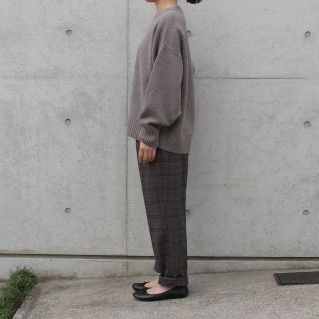MY / PLAID TAPERED SLACKS  ( CHECK )
