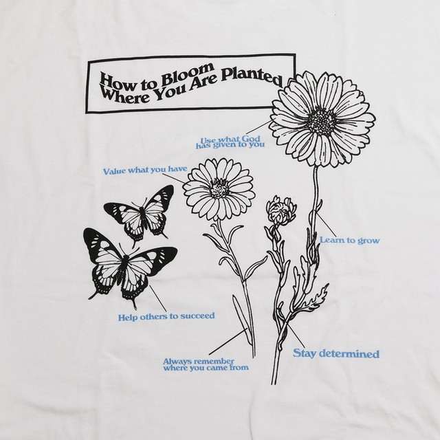 【Cat & Parfum】How to Bloom Where You Are Planted Long Sleeve