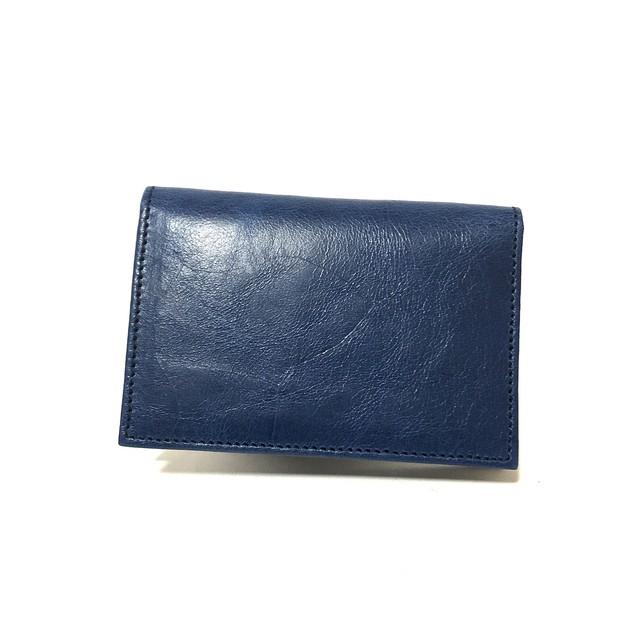 GYPS FLAT カードケース イタリアンレザー ブルー