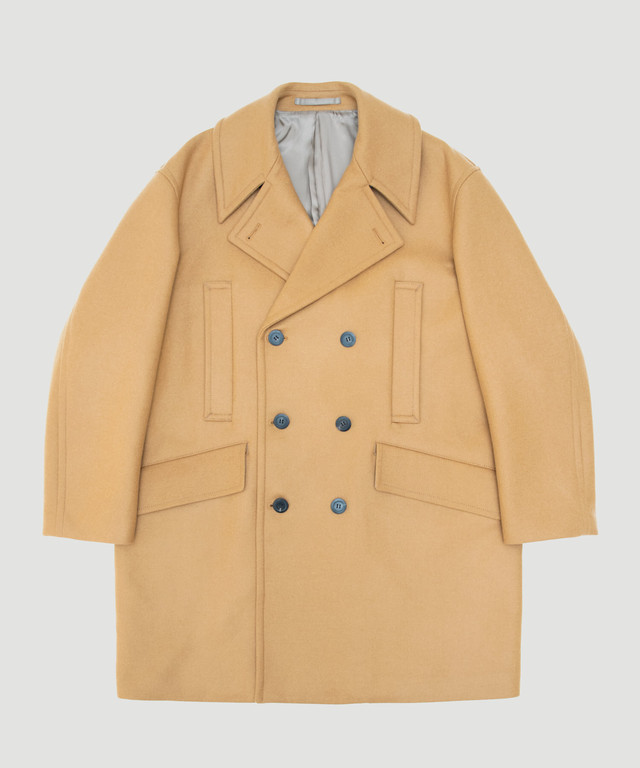 Allege Melton Pea Coat Camel AH19W-CO02A