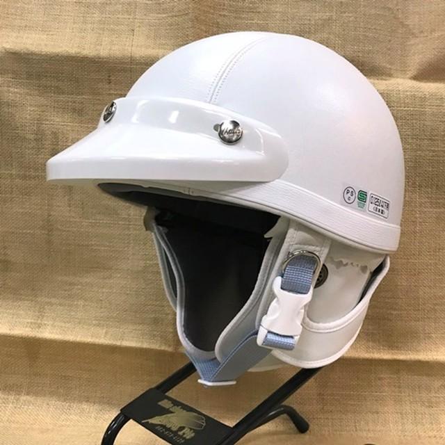 MACH マッハ ヘルメット FB ホワイト バイザー付 フリー(57-60)
