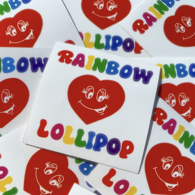RAINBOW LOLLIPOP ロゴ ステッカー
