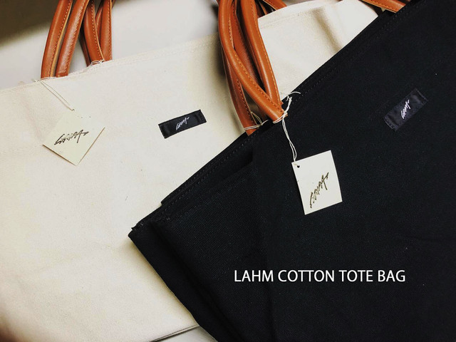 LAHM COTTON TOTE BAG LAHM/エルエーエイチエム
