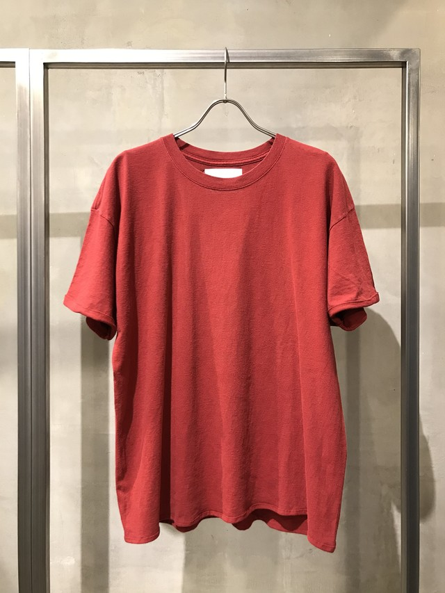 TrAnsference fixed proportion loose fit T-shirt - red(dull)