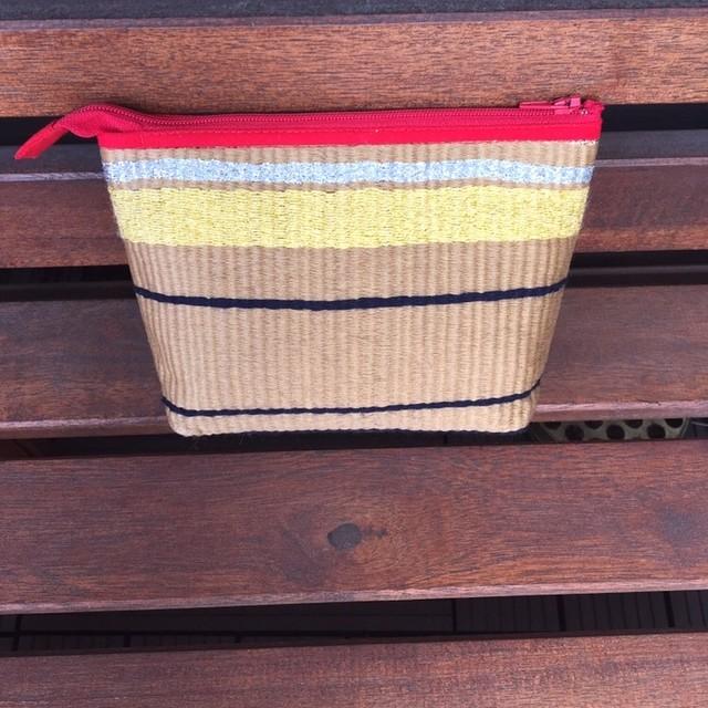手織りポーチ(大)レッド