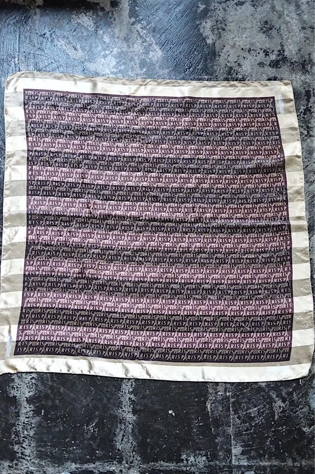 Paris patterned scarf