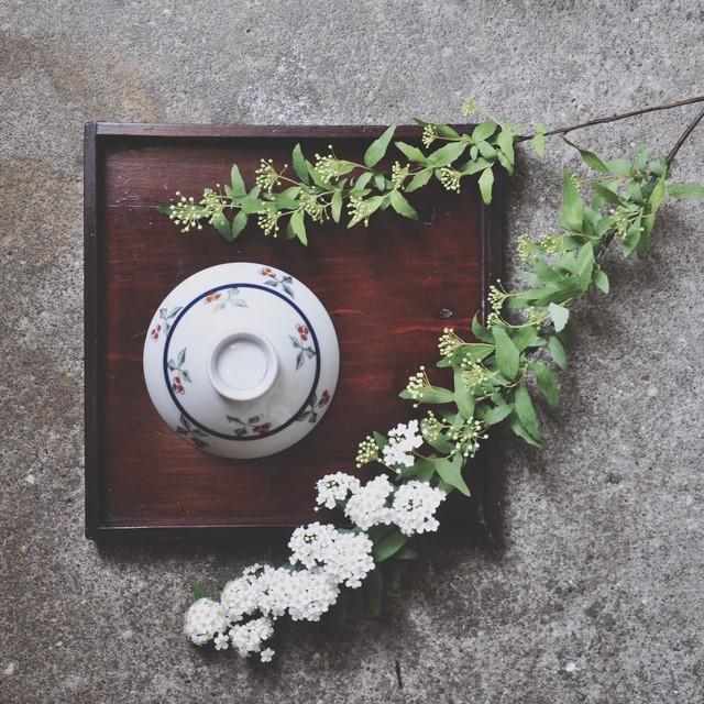 【レトロ飯茶碗】木の実 紅 昭和レトロ デッドストック