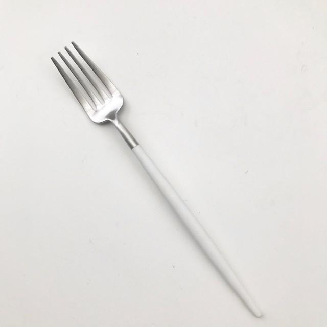 【cutipol クチポール】デザートフォーク  GOA ブラック×シルバー 正規品