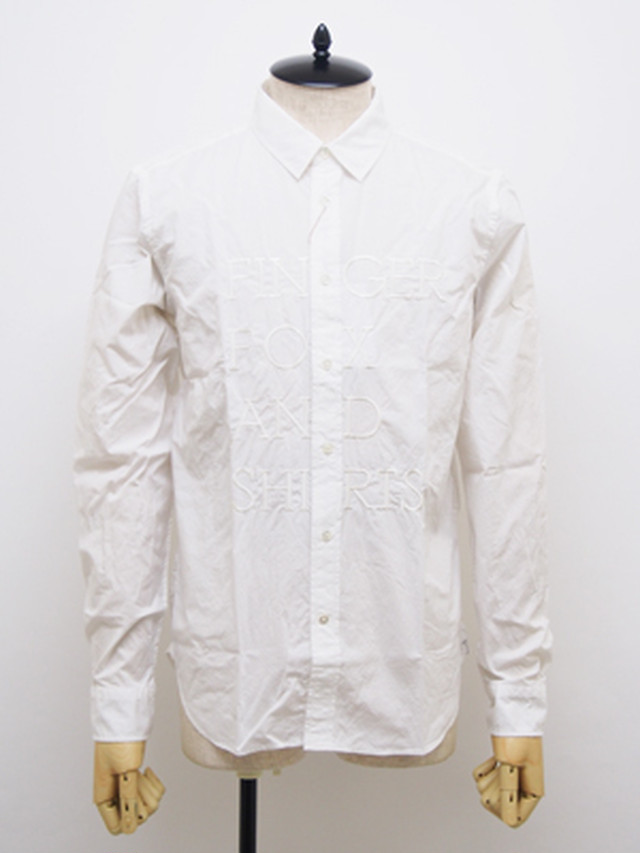FINGER FOX AND SHIRTS (フィンガーフォックスアンドシャツ) 60/-Typewriter FFS Shirts / WHITE   FFS-0002-00