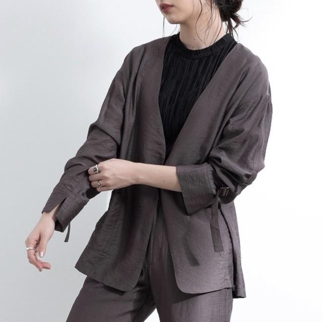 【yukichi.】arm suspender jacket/CGRY