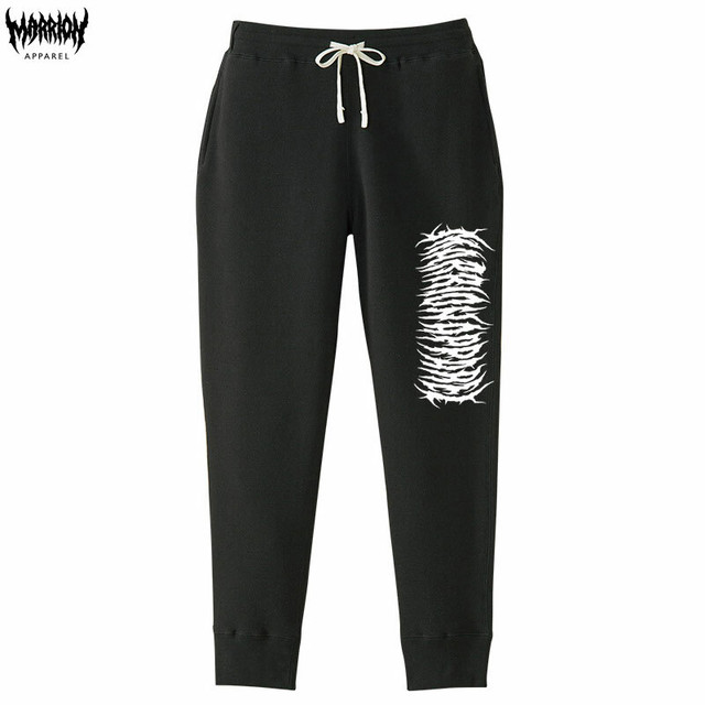 【モコモコロゴ】Marrion Apparel Logo Pants (Black×White)