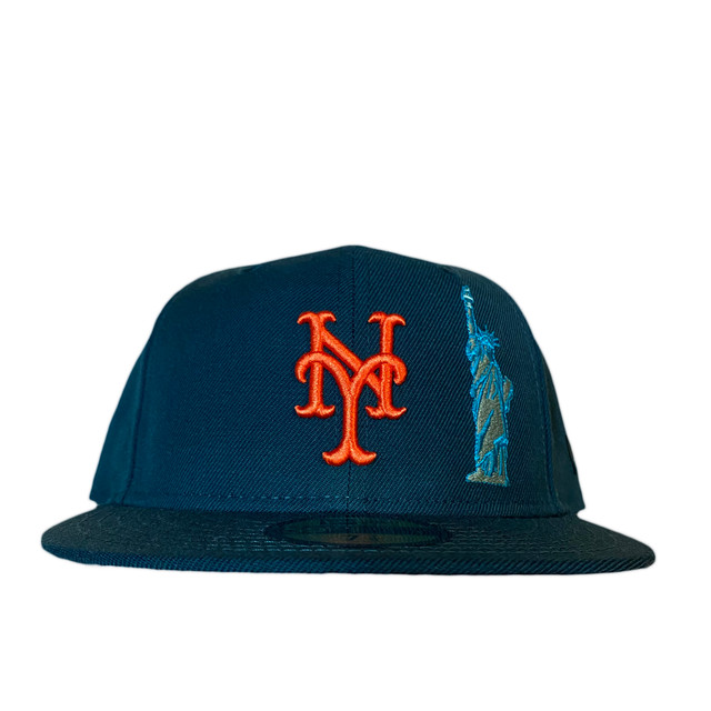 NEW ERA New York Mets Ledyliberty ×Big Apple 59Fifty Fitted /Dark Green×Orange