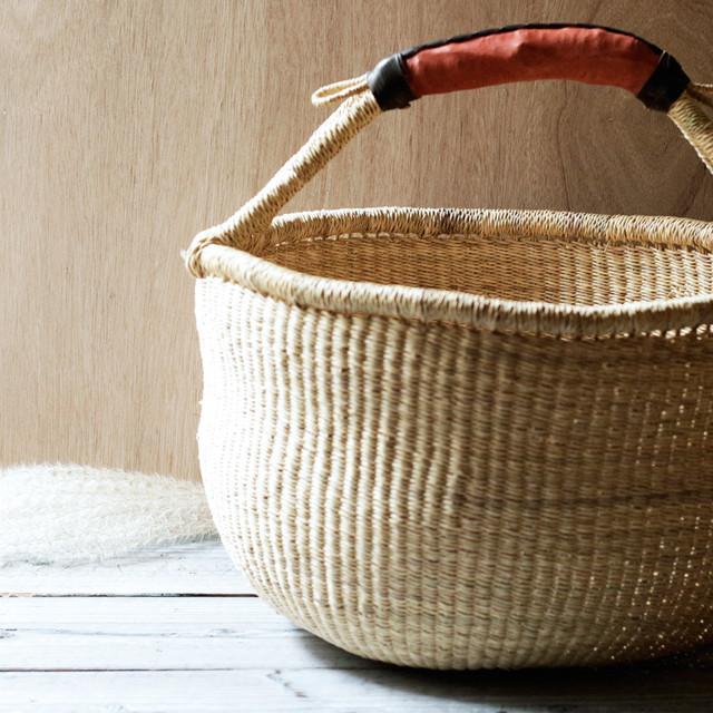 ガーナの手編み ボルガバスケット / 大 2