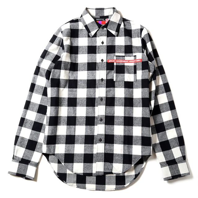 NEW ONLY SUMMER FLANNEL CHECK SHIRTS (ホワイト) / RADIO EVA