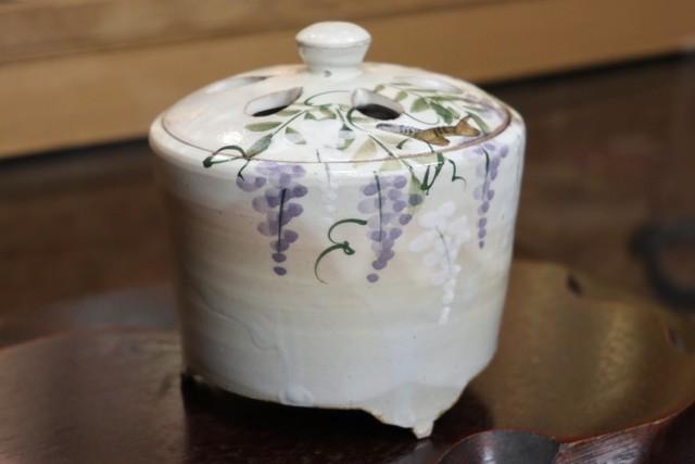 藤(Kyo-yaki&Kiyomizu-yaki Incense burner)