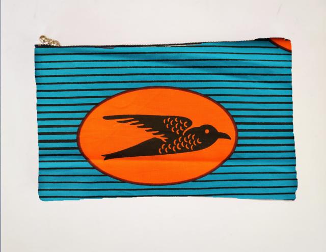 アフリカンファブリック ペタンコポーチ Swallow オーダー