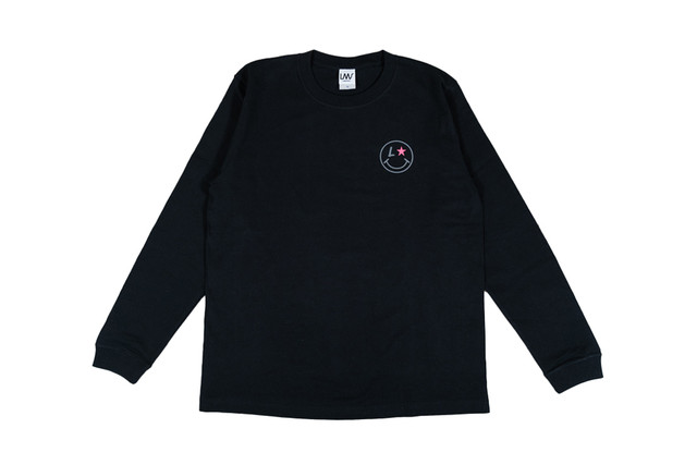 【smile logo long sleeve】/ black