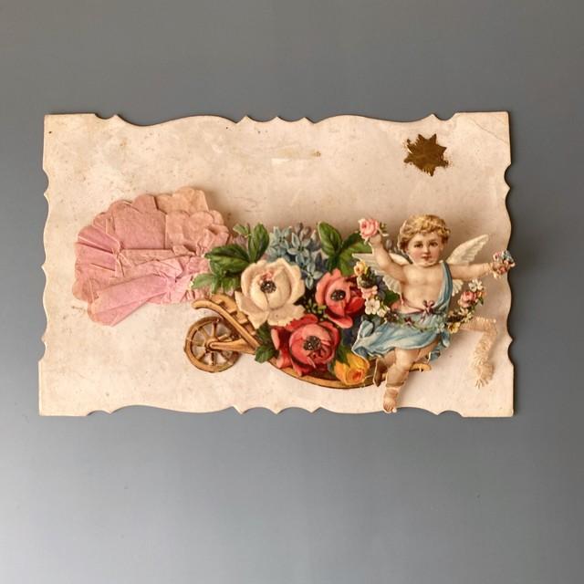 アンティーク薔薇のポストカード・b /  vp0138