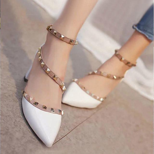 【shoes】ファッションラインストーン合わせやすいシューズ