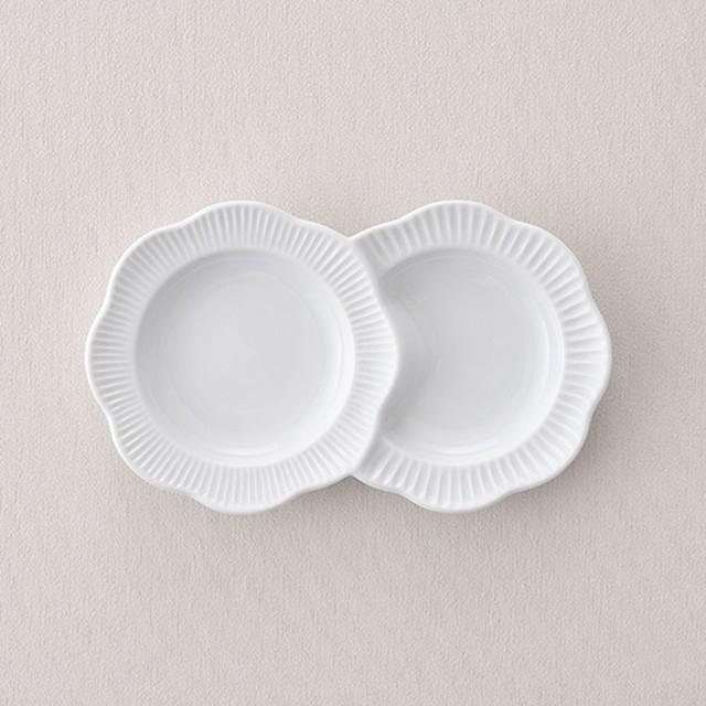 フラワー小分皿・ホワイト