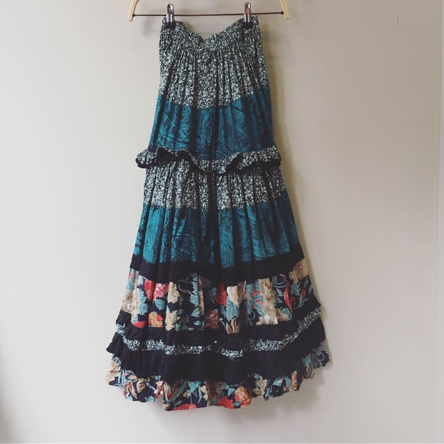 vintage flower design skirt