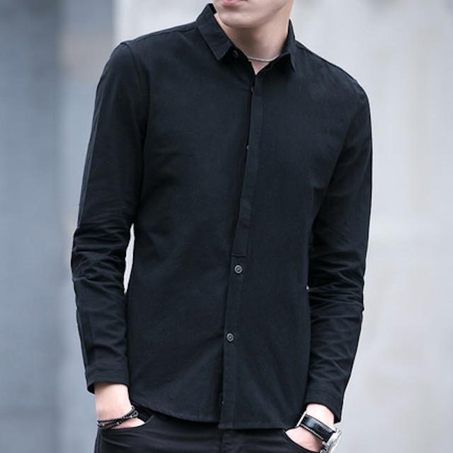 Yシャツ インナー 長袖 ワイシャツ メンズ カジュアル トップス アメカジ カtps-1629